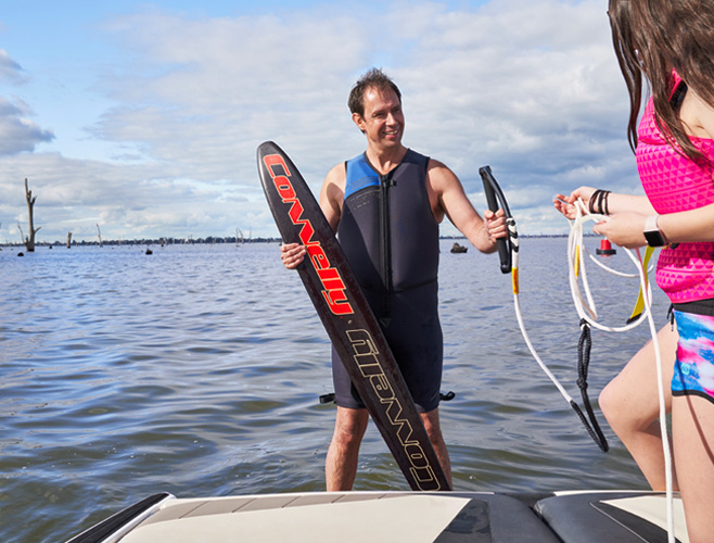 Skiing on Lake Mulwala